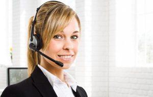 14013131 - portrait of a beautiful customer representative